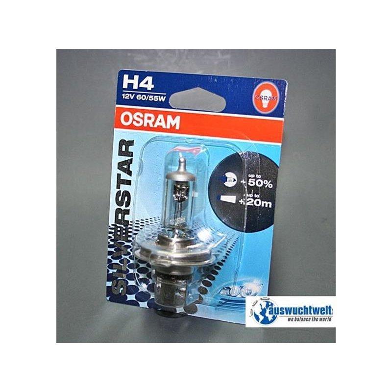 lampe h4 12v 60 55w 50 silverstar von osram 1st ck. Black Bedroom Furniture Sets. Home Design Ideas