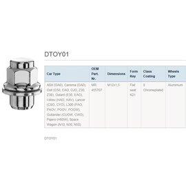 radmutter radschraube mitsubishi aluminiumfelgen m12x1,5 oe mr 45570